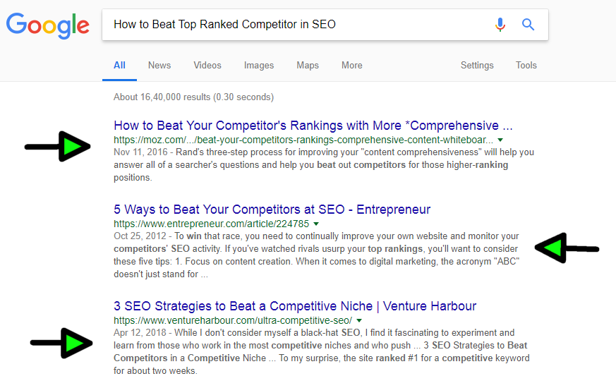 How to Beat Top Ranked Competitor in SEO