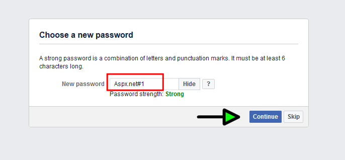change fb password