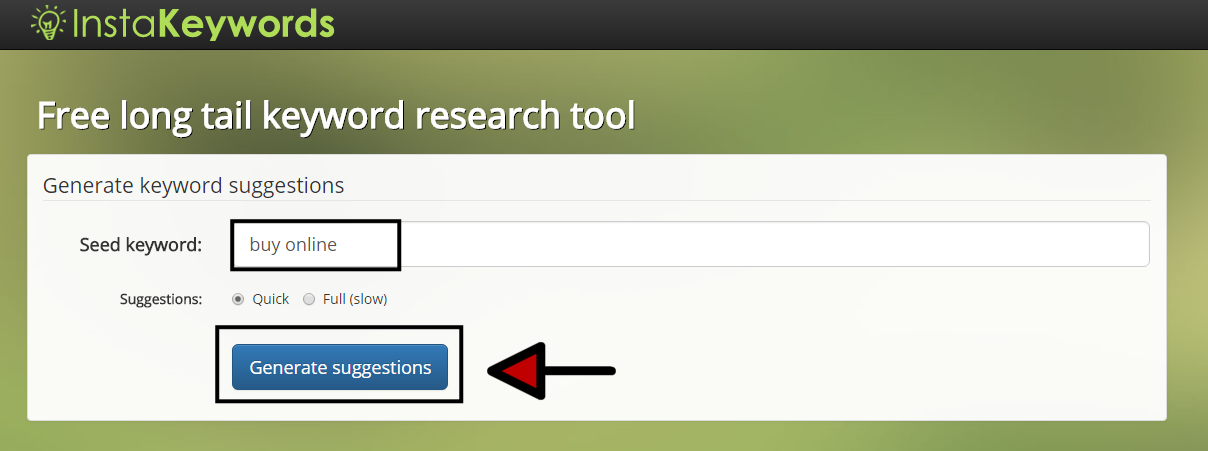 Free long tail keyword research tool