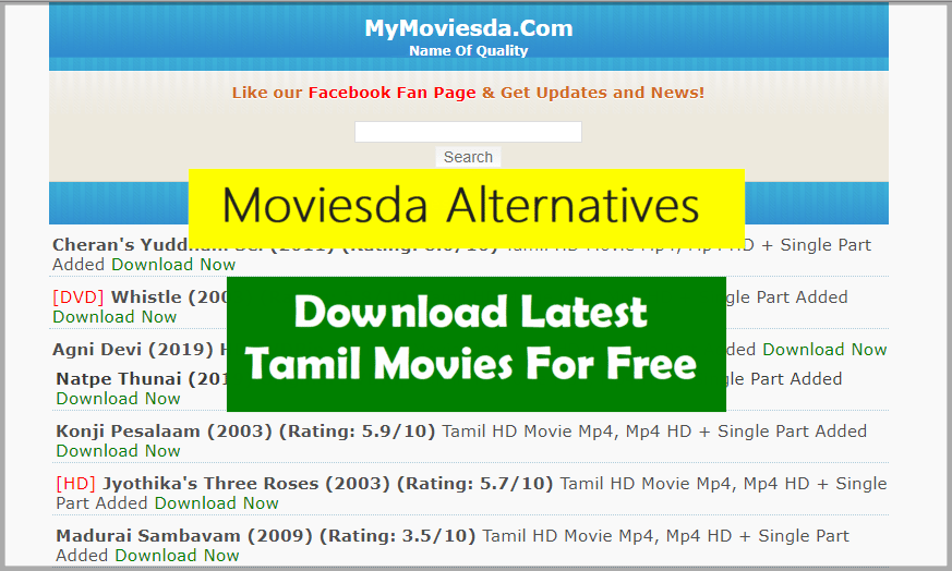 Moviesda Alternatives To Download HD Tamil Movies Isaimini